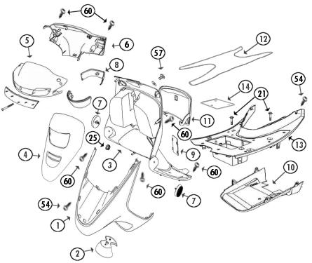 frontverkleidung 4taktershop baotian und rex roller ersatzteile benzhou tuning teile und. Black Bedroom Furniture Sets. Home Design Ideas