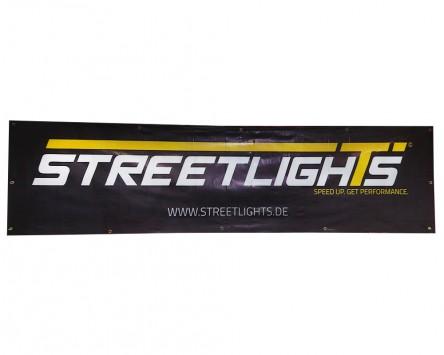 Banner 2500x620mm STREETLIGHTS schwarz