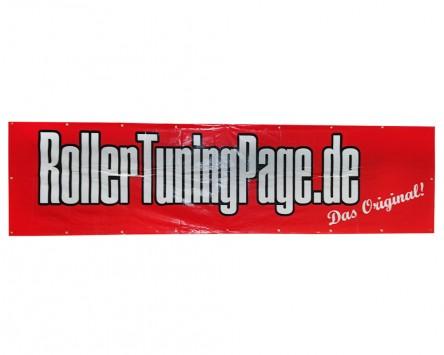 Banner 2500x620mm ROLLERTUNINGPAGE.DE rot