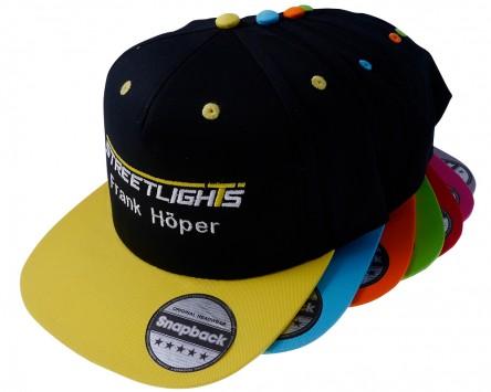 Snapback STREETLIGHTS gestickt personalisiert div. Farben