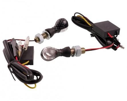 Blinker VANEZ Bubble LED carbon / klar Mini universal