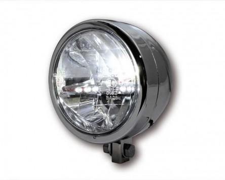 scheinwerfer universal rund miami chrom motorrad 130mm. Black Bedroom Furniture Sets. Home Design Ideas
