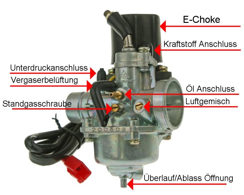 Kolben 2EXTREME 50ccm 1E40QMB AGM Motors Fighter 50 One Zylinder 2-Takter