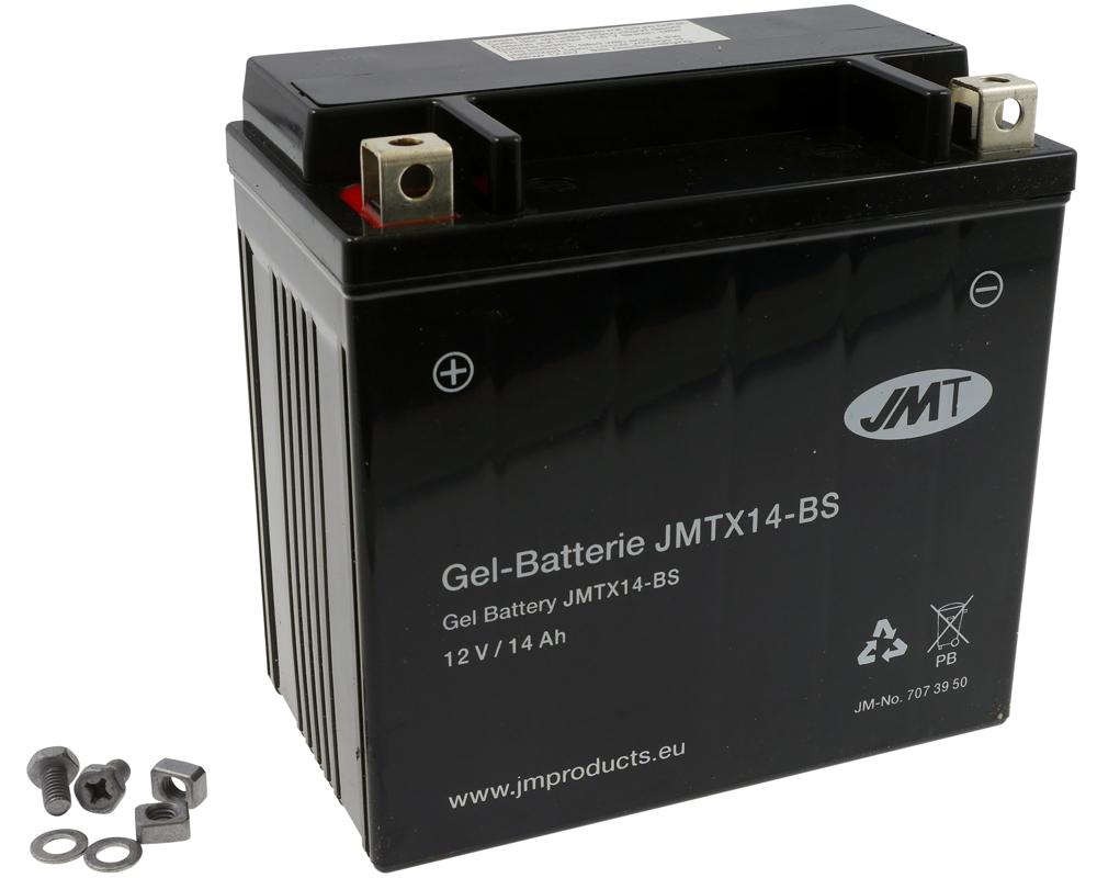 JMT Gel Batterie ytx14-bs yamaha xjr 1200 1997 4pu 98 Ch