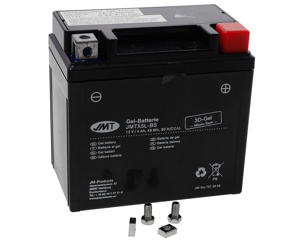 Batterie 12V 4Ah JMT Gel YTX5L-BS