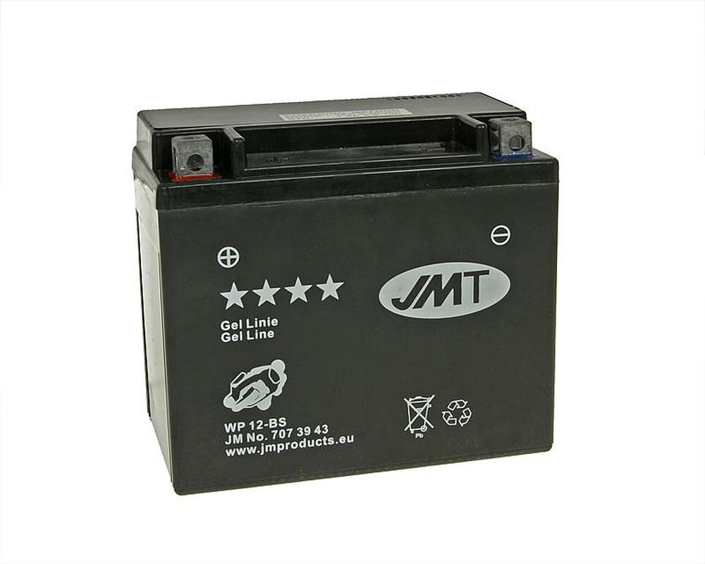 Batterie 12V 12Ah JMT Gel YTX12-BS