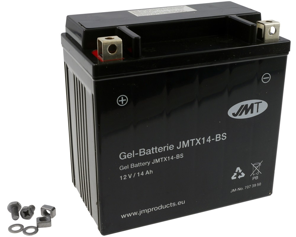 Batterie 12V 14Ah JMT Gel YTX14-BS