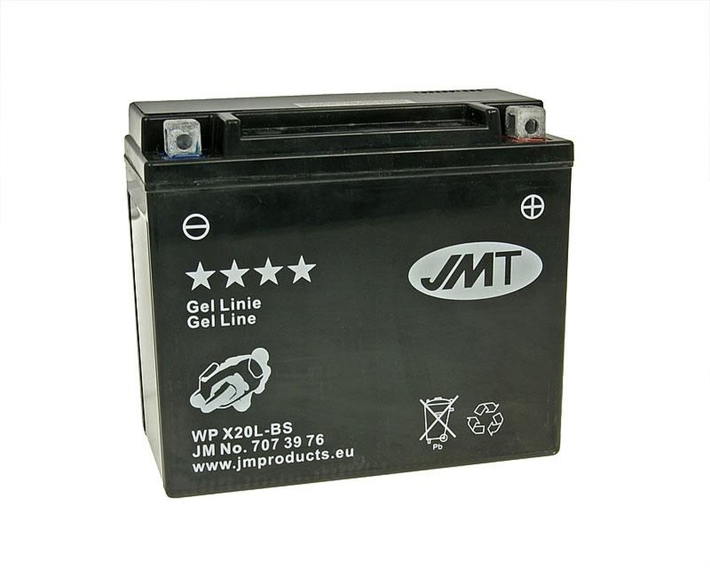 Batterie 12V 20Ah JMT Gel YTX20L-BS
