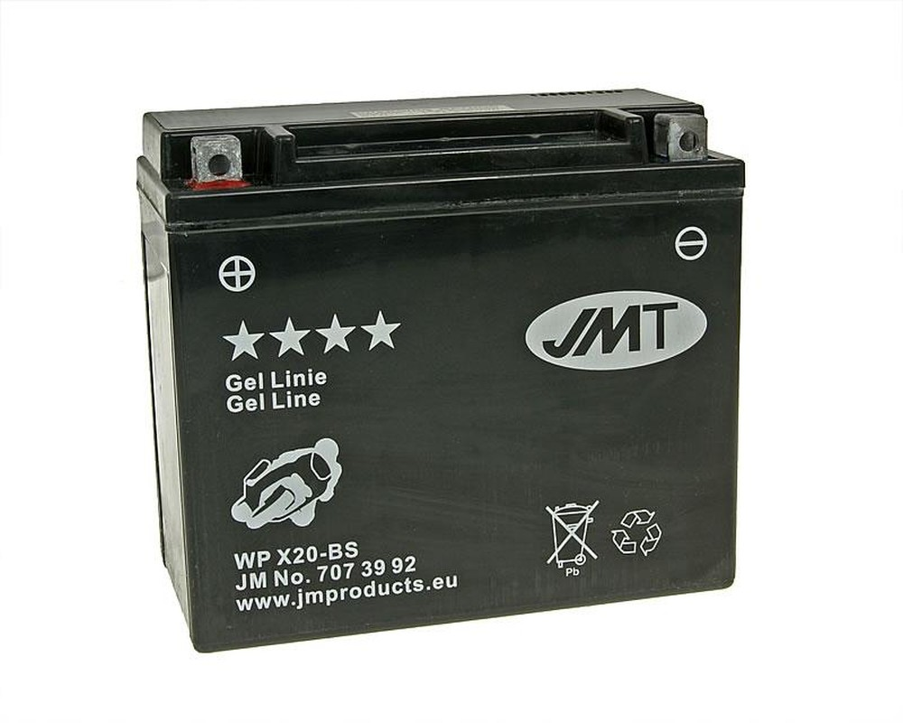 Batterie 12V 20Ah JMT Gel YTX20-BS