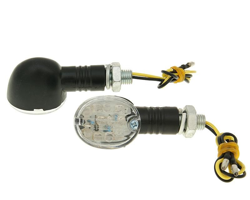 Blinker Set M10 LED Drop schwarz