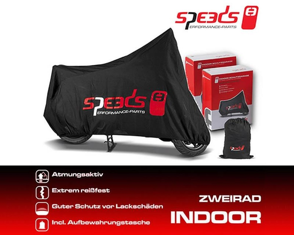 Zweiradgarage Speeds Indoor Größe XXL - 274x108x104cm